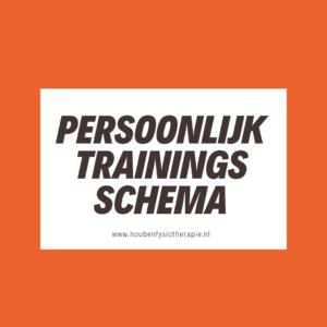 persoonlijk trainingsschema - Houben Fysiotherapie
